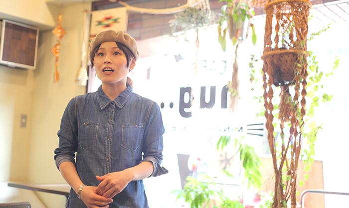 CAFE nug..のオーナーの河崎さん