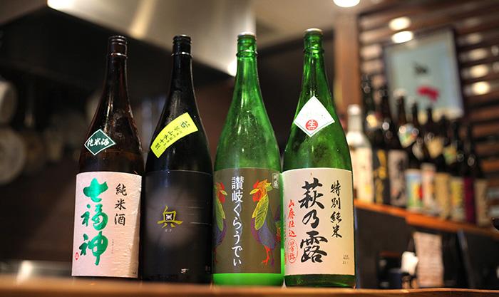 4種類の日本酒