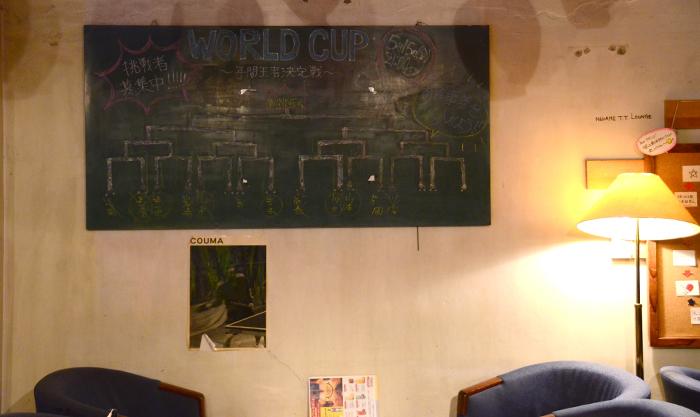 壁に飾られた黒板