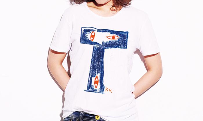 モダンでどことなくレトロなTシャツ